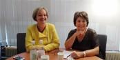 Deux qui se battent pour les Droits de l'Humanité - Chantal Cutajar et Corinne Lepage. Foto: Eurojournalist(e)
