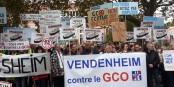 """Les villages concernés par le GCO - sont contre. Car les """"effets secondaires"""" sont trop néfastes. Foto: Franck Dautel"""