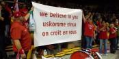 Die Fans der SIG stehen hinter ihrem Team und konnten den ersten Saisonsieg bejubeln... Foto: Michael Magercord / Eurojournalist(e)