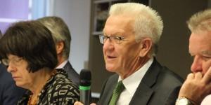 Le ministre-président du Bade-Wurtemberg Winfried Kretschmann veut intensifier la coopération transfrontalière. Foto: Eurojournalist(e)