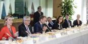 Ils sont fiers après la signature du CETA. Mogherini, Juncker, Tusk, Schulz... und sie sollten sich eigentlich eher schämen. Foto: (c) European Union 2016 / Source EP