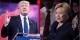 Trump ou Clinton... pas très joyeux comme choix... Foto: Krassotkin (derivative), Skidmore (Trump / Clinton) / Wikimedia Commons / CC-BY-SA 3.0