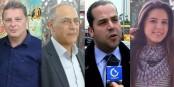 Les quatres premières voix tunisiennes qui expriment leurs attentes vis-à-vis de l'Europe. Foto: Cheker Berhima