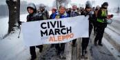 "La ""Marche vers Alep"" emprunte la ""Route des Balkans"" - une initiative exemplaire. Foto: Marta Zienkiewicz"