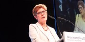 Der Champion der deutsch-französischen Zusammenarbeit ist die saarländische Ministerpräsidentin Annegret Kramp-Karrenbauer. Foto: Eurojournalist(e)