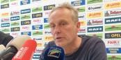 SC-Coach Christian Streich am Donnerstagmittag im Schwarzwaldstadion. Foto: Bicker