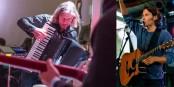 Sie spielen am Samstag gemeinsam in der Freiburger Wodan Halle der Ganter-Brauerei: Hartmut Saam (links) und Steven Bailey. Fotos: Künstler-Screenshots.
