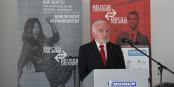 """Le Président de la FEFA Jean-Georges Mandon a expliqué la signification européenne du programme """"Réussir sans frontières - Erfolg ohne Grenzen"""". Foto: Eurojournalist(e)"""