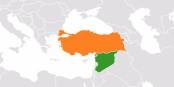 Mit wem wohl der IS in Syrien (grün) Handel treibt? Die Position der Türkei ist alles andere als klar... Foto: AtheshCommons / Wikimedia Commons / CC-BY-SA 3.0