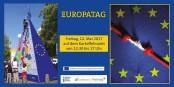 Der Europatag am Freitag, 12. Mai, bietet auf dem Freiburger Kartoffelmarkt wieder ein buntes Programm. Bild: Europatagflyer