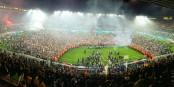 Darauf hatten die Straßburger Fans acht Jahre lang gewartet - die Rückkehr in die I. Liga! Geschafft! Foto: Paul Pruvost