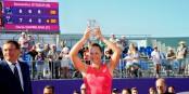 Sam Stosur gewann das rein australische Finale in Straßburg. Foto: Chryslène Caillaud / Internationaux de Strasbourg