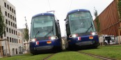 Wenige Minuten vor dem Start zur Jungfernfahrt der Tramlinie D zwischen Straßburg und Kehl. Foto: Eurojournalist.eu