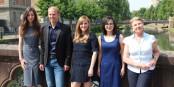 Laure Gisie, Fabian Badarotti, Julie Roesch, Selen Ayyilderiz et Marie-Françoise Hamard s'engagent pour la protection des animaux. Foto: Eurojournalist(e)
