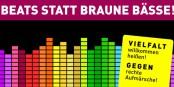 Contre le brun dégueulasse, il n'y a que les couleurs et la bonne humeur. Foto: Aktionsbündnis gegen Rechts Karlsruhe