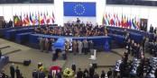 Une cérémonie très digne au Parlement Européen à Strasbourg. Foto: Hervé de Haro
