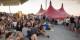 Stimmungsvolle Abende wie diesen am 18. Juli bot das 35. Zelt Musik Festival in Freiburg. Foto: Klaus Polkowski.