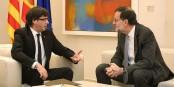 En 2016, Puigdemont et Rajoy pouvaient encore parler l'un avec l'autre. Et maintenant ? Foto: Generalitat de Catalunya / Wikimedia Commons / CC0 1.0