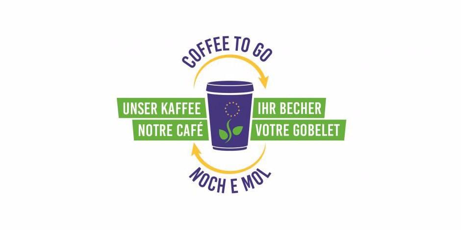 Là où vous verrez cet autocollant, vous pourrez désormais faire remplir votre gobelet avec un café bien chaud... Foto: Eurodistrict Strasbourg-Ortenau