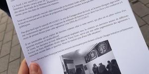Heureusement qu'il y ait des citoyens qui se révoltent contre l'implantation d'un groupe néofasciste à Strasbourg. Foto: privée