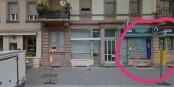 """29 Rue Vauban à Strasbourg - c'est ici que les extrémistes du """"Bastion Social"""" ont ouvert leur """"bas associatif"""". Foto: Collectif Fermons l'Arcadia"""