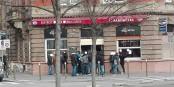"""Vor der Eröffnung ihrer """"Vereinsbar"""" traf sich die """"Bastion Social"""" hier - erstaunlich, dass es Wirte gibt, die Neofaschisten ihre Räume vermieten. Foto: Eurojournalist(e)"""