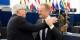 Jean-Claude Juncker et Donald Tusk hier devant le Parlement Européen à Strasbourg. Foto: (c) European Union / 2018 EC Audiovisual Service