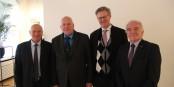 Vice-Président Alexis Lehmann, Président Jean-Claude Klinkert, Vice-Président Ulrich von Kirchbach et le Président sortant Jean-Georges Mandon. Foto: FEFA