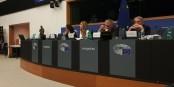 Mit auf dem Podium beim STOA-Event - Nobelpreisträger Martin Karplus (rechts). Foto: Eurojournalist(e)