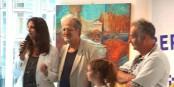 Georges Federmann avec André et Lloica, de l'Association Valiske Foto: Marc Chaudeur