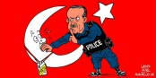 Die Türken wollen ihn, jetzt haben sie ihn. Und wem die Demokratie bei uns nicht gefällt, hat ab sofort das Traumziel Türkei. Und tschüss. Foto: Carlos Latuff / Wikimedia Commons / PD