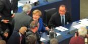 S'agit-il réellement d'une attaque de la chancelière sur le siège du PE à Strasbourg ? Foto: fotogoocom / Wikimedia Commons / CC-BY-SA 3.0
