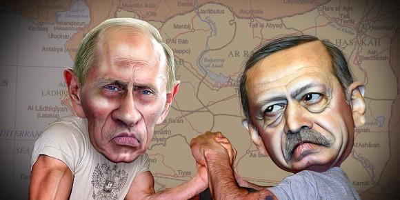Erdogan et Poutine en 2015 Foto: DonkeyHotel / Wikimédia Commons / CC-BY-SA 2.0Gen.