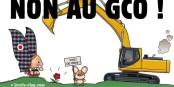 """Die Gegner des hoch umstrittenen Projekts """"GCO"""" werden nicht einfach nur zusehen, wie 24 km Natur plattgewalzt werden. Foto: https://gcononmerci.org"""