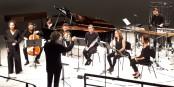 A MUSICA, l' Ensemble de Musique contemporaine (soprano : Gabrielle Varbetian) interprète une oeuvre du jeune compositeur Minchang Kang Foto: Rédaction
