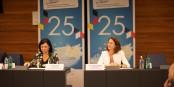 EU-Kommissarin Vera Jourova und Bundesjustizministerin Dr. Katarina Barley waren nur zwei der hochkarätigen GratulantInnen... Foto: ZEV