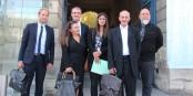 A la sortie d'une réunion plus qu'encourageante, le groupe d'experts OSDEI N. Bortko, B. Vitale, P. Pardié, C. Onillon (représentant le vice-président de l'Assemblée Nationale Sylvain Waserman), P. Follain, D. Ricordel. Foto: Eurojournalist(e) / CC-BY-SA 4.0int