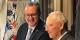 Les deux présidents des parlements, Richard Ferrand et Wolfgang Schäuble, se réjouissent de ce pas historique dans les relations franco-allemandes. Foto: Courtesy Sylvain Waserman