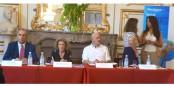 A propos de la construction du principe d'Hospitalité : Ledi Bianku, Mireille Delmas-Marty, Kai LIttmann, Irena Guidikova, Nawel Elmrini. Foto: Rédaction