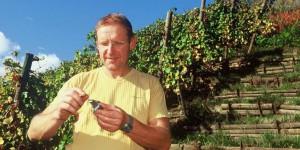 Jean-Philippe Becker vérifie la teneur en sucre du millésime 2018  Foto: privé