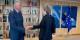 """On ne peut qu'admirer le """"self control"""" de Michel Barnier - qui doit vraiment avoir envie de gifler Theresa May... Foto: (c) Union Européenne 2018, Photo Etienne Ansotte"""