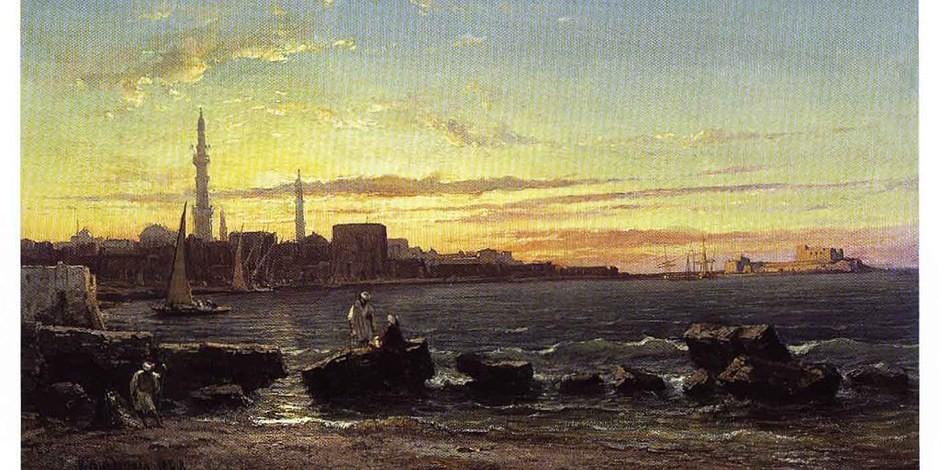 Alexandrie à l'époque de l'enfance de Kavafis (1868)  Foto:Vincent Courdouant / Wikimédia Commons / CC-BY-SA PD