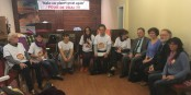 Les grévistes de la faim anti-GCO  Foto: Jeanne Barseghian