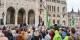 Une manifestation de Parbeszed Magyarorszagert, le parti écologiste hongrois, avec la belle dirigeante Timea Szabo  Foto: Szilas / Wikimédia Commons / CC-BY-SA PD