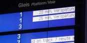 """""""Verspätung"""", retard - un affichage auquel les Allemands sont habitués... Foto: Sebasztien Terfloth / Wikimedia Commons / CC-SA 2.5"""
