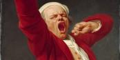 Hurle-t-il ou bien baille-t-il ? En tout cas, c'est un Français. Tableau de DUCREUX, 19ème siècle  Foto: Google Cultural Institute / Wikimédia Commons / CC-BY-SA PD