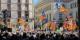 Auch die grossen Demonstrationen in Barcelona verliefen friedlich - der Prozess in Madrid ist eine Farce. Foto: Xfifpower / Wikimedia Commons / CC-BY-SA 3.0