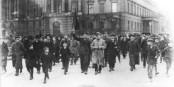 Am 9. November 1918 begann in Deutschland ein Generalstreik. Das wird heute in Frankreich wohl nicht so richtig klappen... Foto: Bundesarchiv / Bild 183-18594-0045 / Wikimedia Commons CC-BY-SA 3.0de