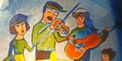 Se réunir, comprendre, jouer et chanter. Dessin de Sherley Freudenreich  Foto: organisateurs