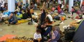 Migrants à la gare de l'Est (Keleti) de Budapest  Foto: Elekes Andor / Wikimédia Commons / CC-BY-SA 4.0Int